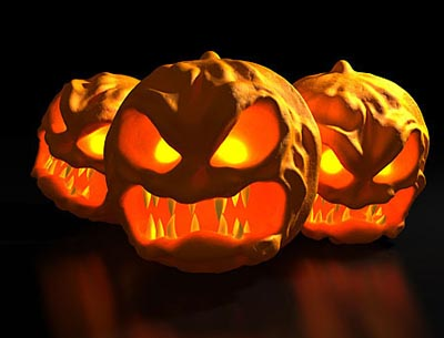 Scary Pumpkin Carving Patterns 02