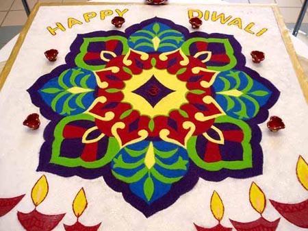 how to make rangoli patterns