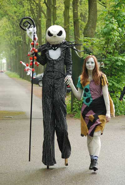 jack and sally halloween costumes image - The First Halloween Costumes