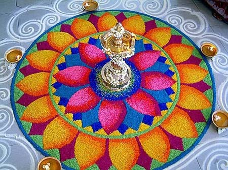 rangoli-design-with-flowers
