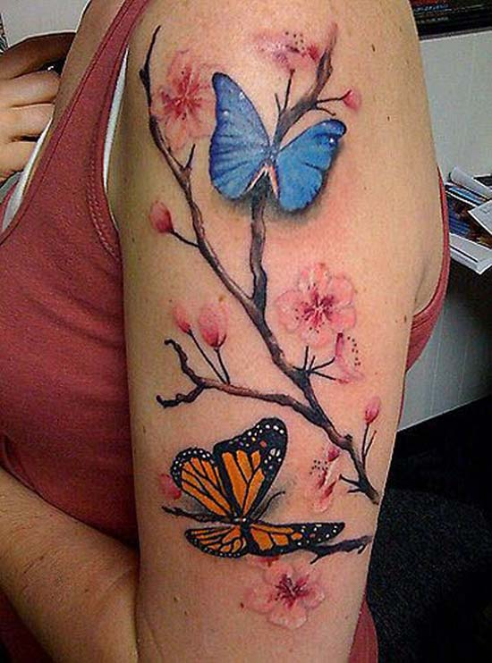 butterfly-tattoo-designs-blue-and-orange-butterfly