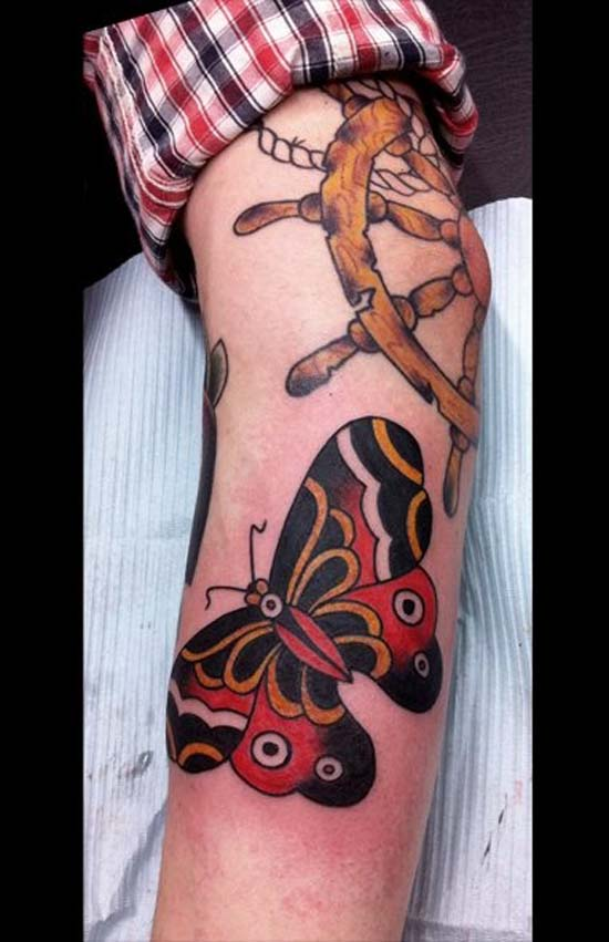 butterfly-tattoo-designs-colorful-butterflies-black-red-orange