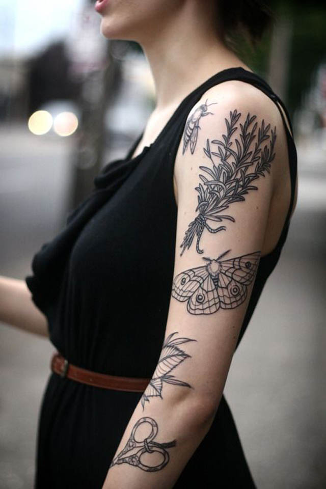 butterfly-tattoo-designs-fly-shrubs-butterfly-leaves