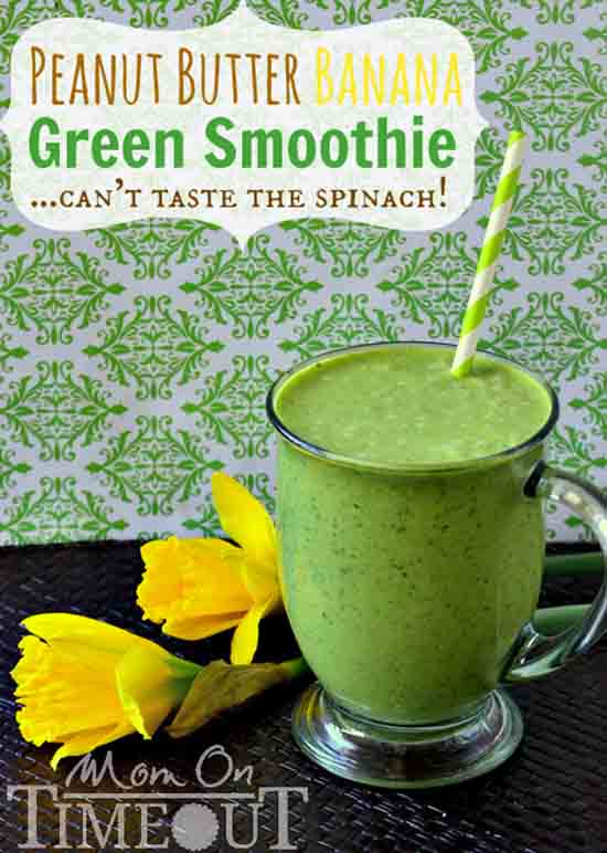 healthy-smoothie-recipe-peanut-butter-banana-green-smoothie