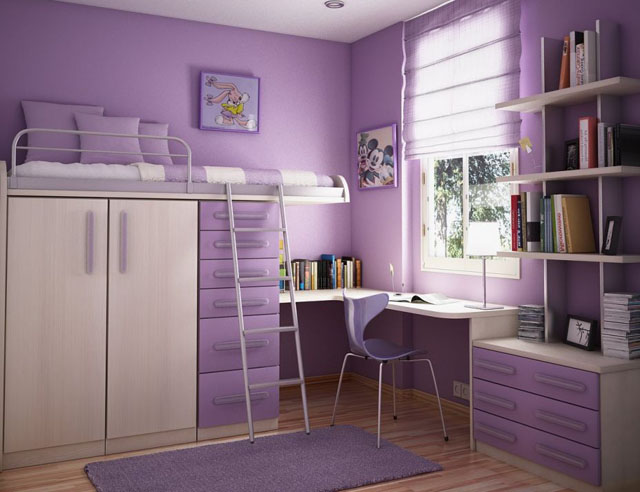 small-bedroom-decorating-ideas-extraordinary-cool-purple-small-bedroom