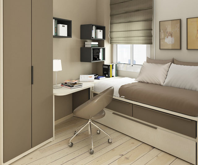 small-bedroom-decorating-ideas-modern-grey-brown-small-kids-room-design