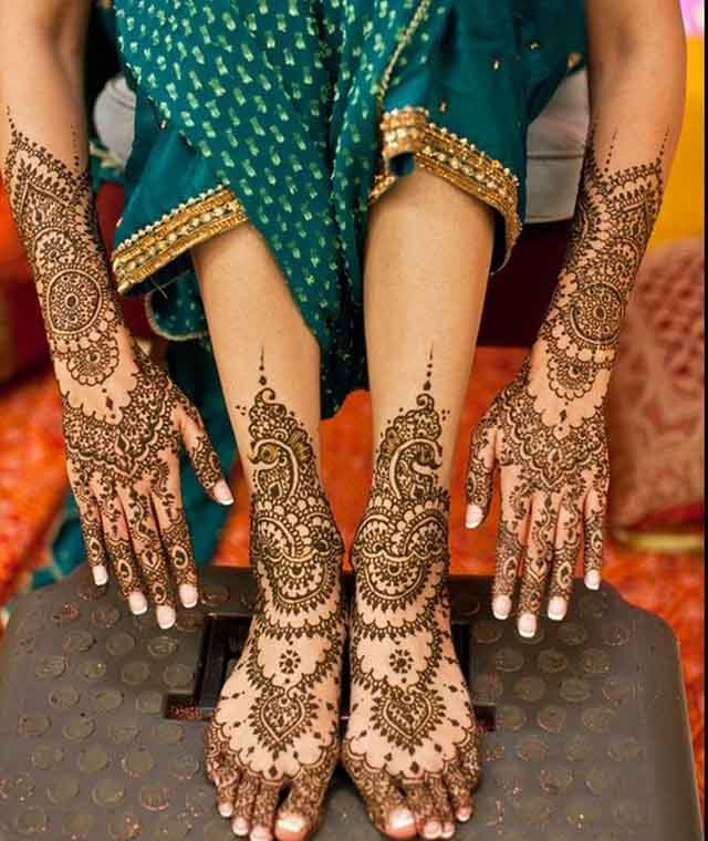 Mehndi Patterns Bridal : Beautiful mehndi designs and patterns to try random