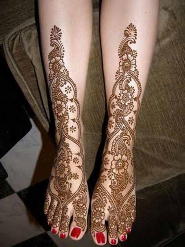 Full Leg Mehndi : Beautiful mehndi designs and patterns to try random