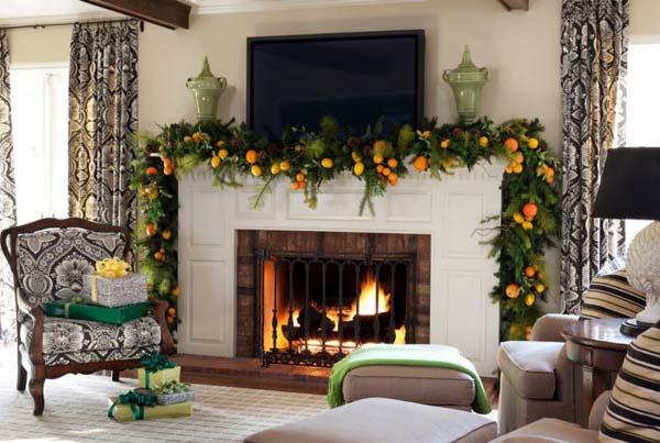 mantel-christmas-garland-ideas