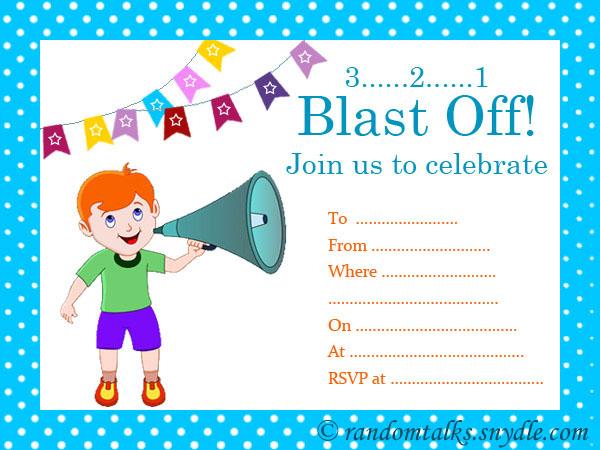 Printable Birthday Invitation For Boy