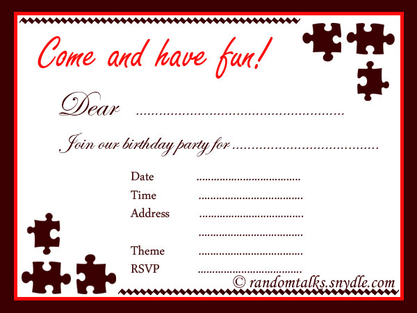 Birthday Invitation Free Printable For Adults Orderecigsjuiceinfo - Editable birthday invitations for adults