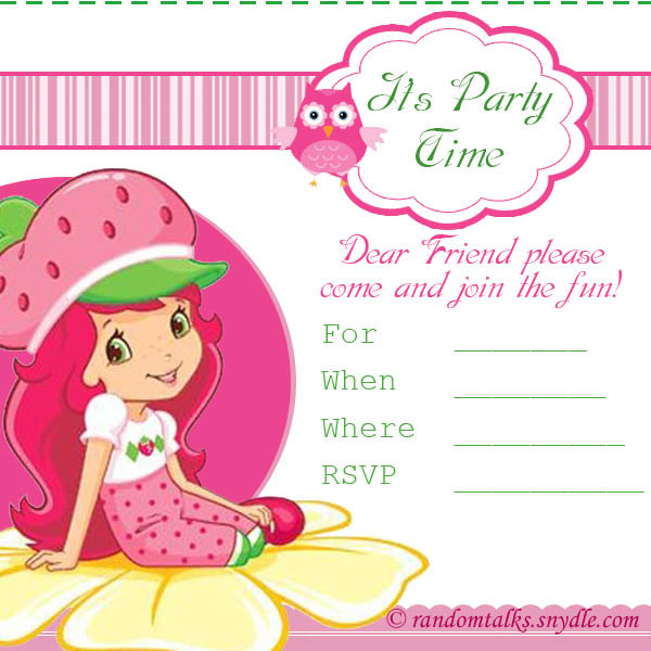 Printable Birthday Invitations For Girls