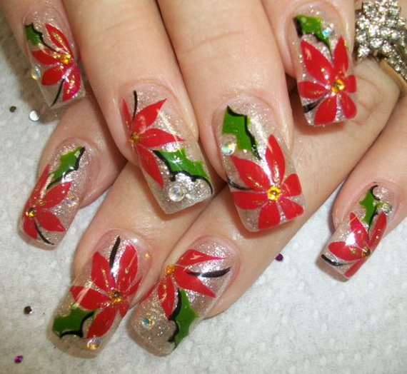 Nail art designs christmas pictures best nails 2018 easy nail art designs for christmas random talks prinsesfo Images