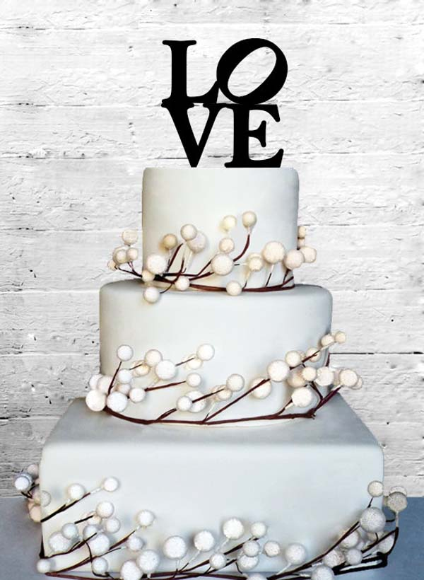 Simple Engagement Cake Ideas