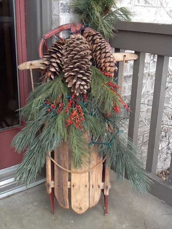 rustic-christmas-outdoor-decorations-ideas