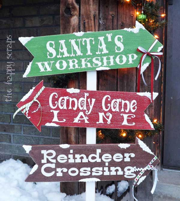wood outdoor christmas decorations ideas