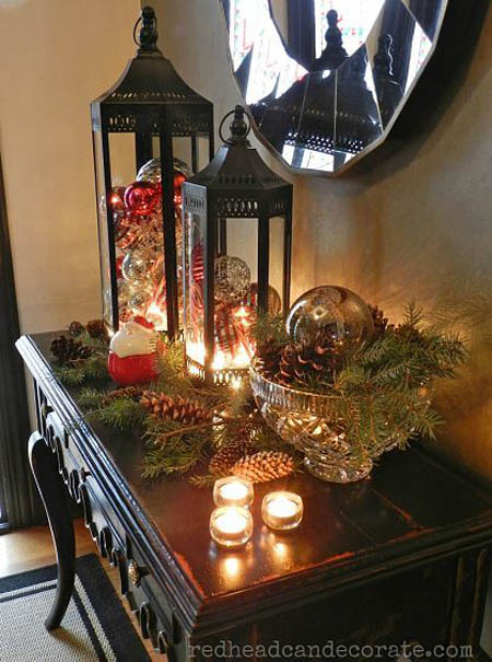 Silver And Black Decor For Christmas