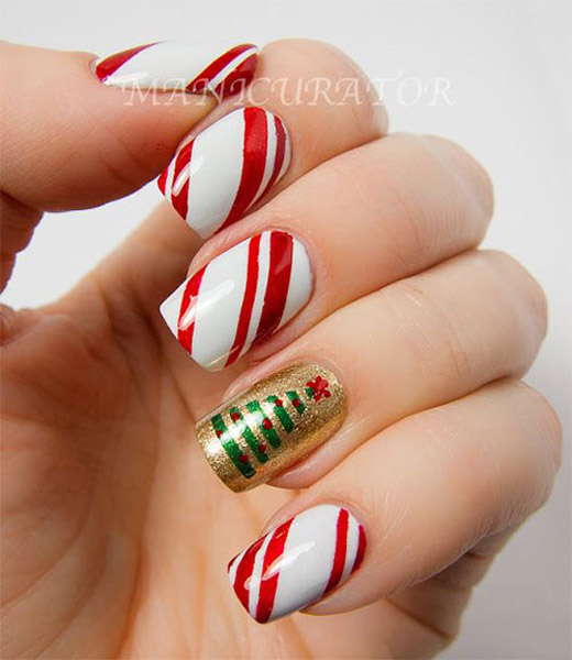 Nail Art Designs Red And Green Absolute Cycle