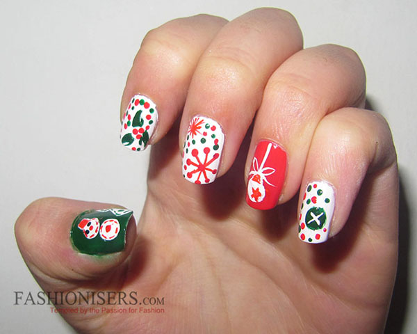 Christmas Nail Art Designs Tutorials